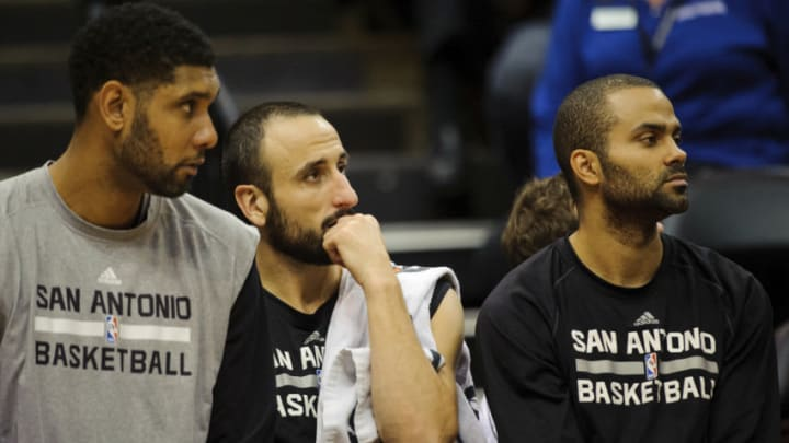 San Antonio Spurs Tim Duncan Manu Ginobili Tony Parker (Photo by Hannah Foslien/Getty Images)