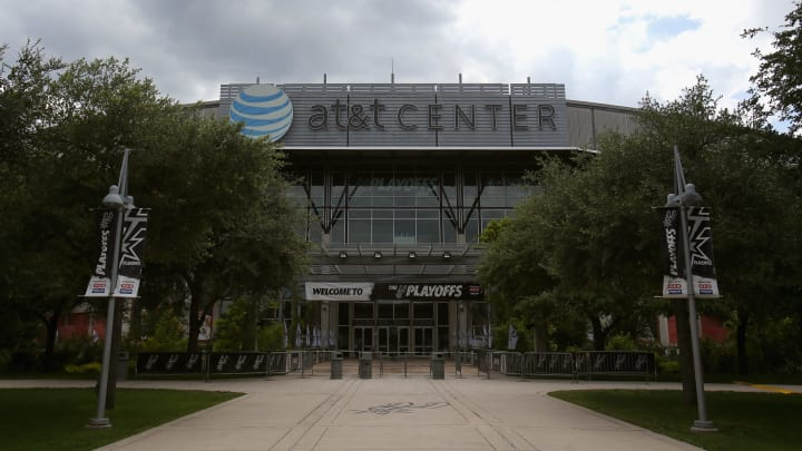 SAN ANTONIO, TX – MAY 29: A general view outside Game Five of the Western Conference Finals of the 2014 NBA Playoffs between the Oklahoma City Thunder and the San Antonio Spurs (Photo by Ronald Martinez/Getty Images)