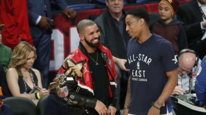 Rapper Drake and shooting guard DeMar DeRozan (Todd Korol/Toronto Star via Getty Images)
