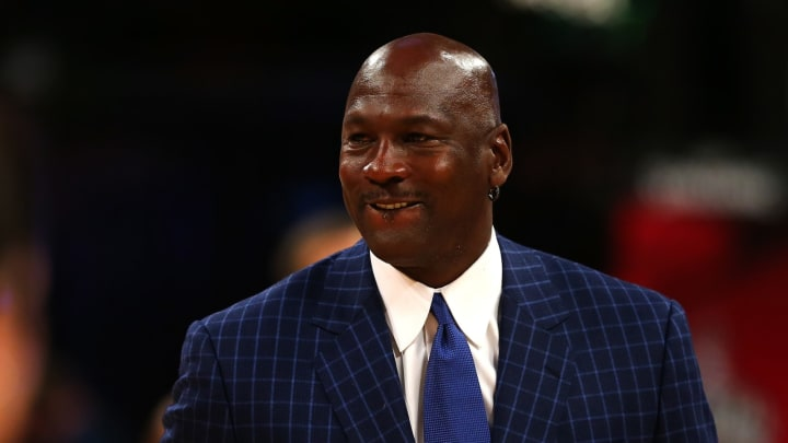 TORONTO, ON – FEBRUARY 14: NBA hall of famer and Charlotte Hornets owner Michael Jordan walks off the court during the NBA All-Star Game 2016 at the Air Canada Centre (Photo by Elsa/Getty Images)