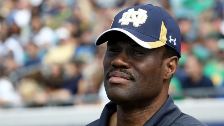 JACKSONVILLE, FL – NOVEMBER 05: Former San Antonio Spurs legend David Robinson attends the game between the Notre Dame Fighting Irish and the Navy Midshipmen at EverBank Field. (Photo by Sam Greenwood/Getty Images)