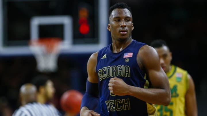 SOUTH BEND, IN - FEBRUARY 26: Josh Okogie #5 of the Georgia Tech Yellow Jackets is seen during the game against the Notre Dame Fighting Irish at Purcell Pavilion on February 26, 2017 in South Bend, Indiana. (Photo by Michael Hickey/Getty Images)