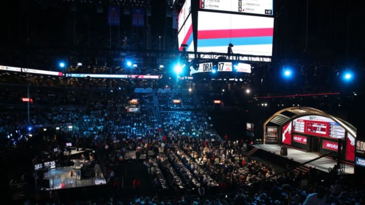NEW YORK, USA - JUNE 22: A general view of Barclays Center during NBA Draft 2017 in Brooklyn borough of New York, United States on June 22, 2017. (Photo by Mohammed Elshamy/Anadolu Agency/Getty Images)