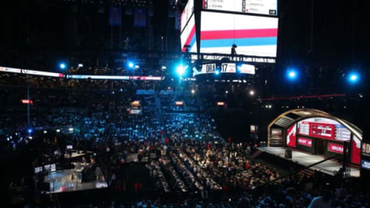 San Antonio Spurs, NEW YORK, USA – JUNE 22: A general view of Barclays Center during NBA Draft 2017 in Brooklyn borough of New York, United States on June 22, 2017.(Photo by Mohammed Elshamy/Anadolu Agency/Getty Images)
