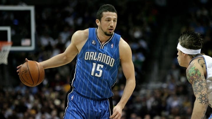 DENVER – JANUARY 17: Hedo Turkoglu #15 of the Orlando Magic dribbles the ball upcourt against the Denver Nuggets. (Photo by Doug Pensinger/Getty Images)