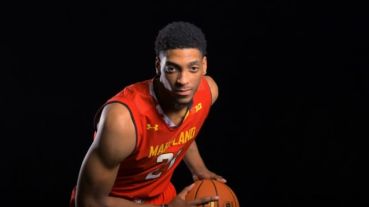 COLLEGE PARK, MD – NOVEMBER 8:Maryland Terrapins forward Justin Jackson (21) poses for photos November 08, 2017 in College Park, MD.(Photo by Katherine Frey/The Washington Post via Getty Images)