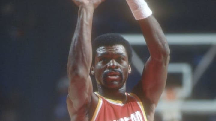 LANDOVER, MD – CIRCA 1977: Calvin Murphy #23 of the Houston Rockets shoots a free throw against the Washington Bullets during an NBA basketball game circa 1977 at the Capital Centre in Landover, Maryland. Murphy played for the Rockets from 1970-83. (Photo by Focus on Sport/Getty Images)