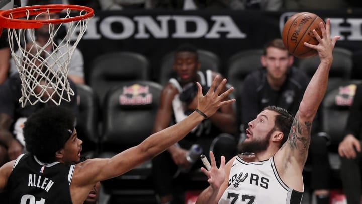 San Antonio Spurs Joffrey Lauvergne (Photo by Paul Bereswill/Getty Images)