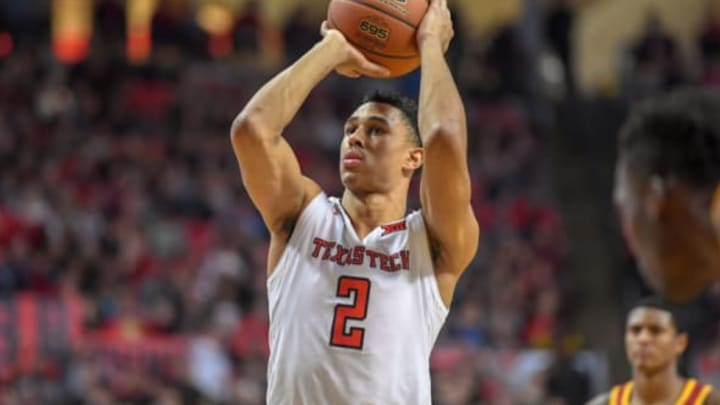 LUBBOCK, TX – FEBRUARY 07: Zhaire Smith #2 of the Texas Tech Red Raiders shoots a free throw during the game against the Iowa State Cyclones on February 7, 2018 at United Supermarket Arena in Lubbock, Texas. Texas Tech defeated Iowa State 76-58. (Photo by John Weast/Getty Images)