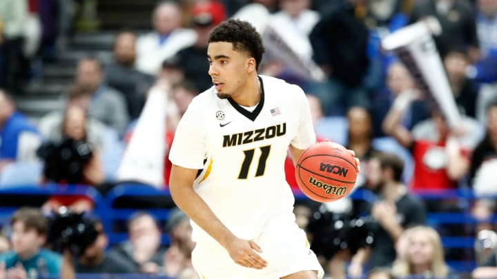 ST LOUIS, MO – MARCH 08: Jontay Porter #11 of the Missouri Tigers dribbles the ball against the Georgia Bulldogs during the second round of the 2018 SEC Basketball Tournament at Scottrade Center on March 8, 2018 in St Louis, Missouri. (Photo by Andy Lyons/Getty Images)