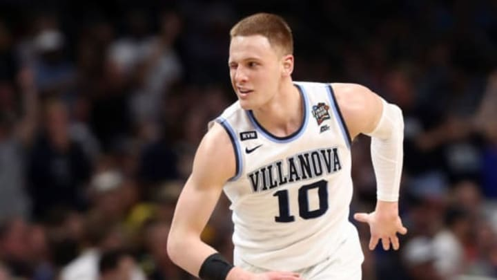 SAN ANTONIO, TX – APRIL 02: Donte DiVincenzo #10 of the Villanova Wildcats reacts after a shot in the second half against the Michigan Wolverines during the 2018 NCAA Men's Final Four National Championship game at the Alamodome on April 2, 2018 in San Antonio, Texas. (Photo by Ronald Martinez/Getty Images)