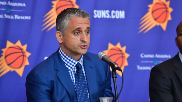 PHOENIX, AZ - MAY 14: The Phoenix Suns announce Igor Kokoskov as the new head coach at a press conference on May 14, 2018, at Talking Stick Resort Arena in Phoenix, Arizona. NOTE TO USER: User expressly acknowledges and agrees that, by downloading and or using this Photograph, user is consenting to the terms and conditions of the Getty Images License Agreement. Mandatory Copyright Notice: Copyright 2018 NBAE (Photo by Barry Gossage/NBAE via Getty Images)