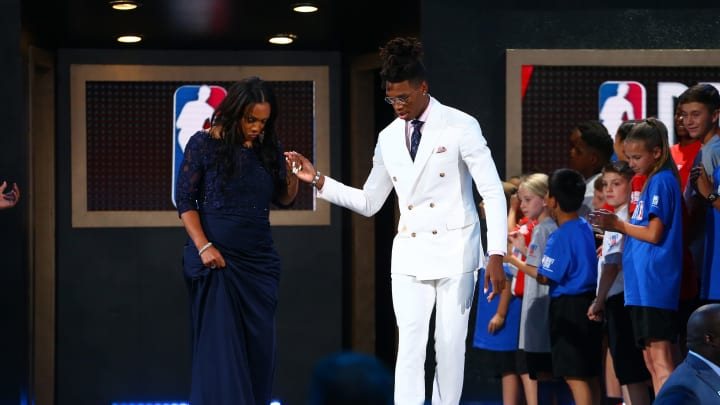 NEW YORK, NY – JUNE 21: Lonnie Walker IV is introduced prior to the 2018 NBA Draft at the Barclays Center before being drafted No. 18 by the San Antonio Spurs. (Photo by Mike Stobe/Getty Images)