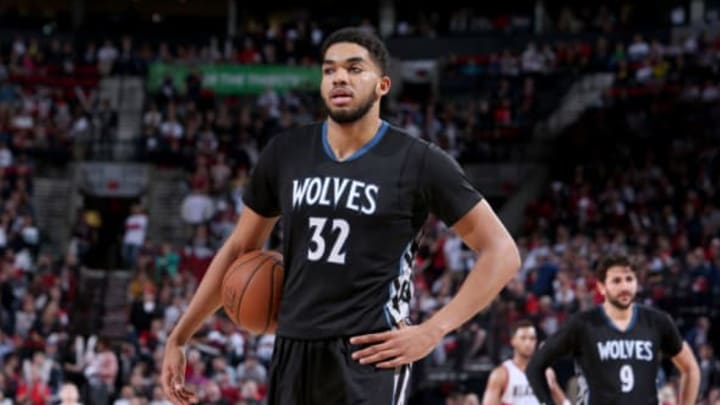 PORTLAND, OR – APRIL 6: Karl-Anthony Towns