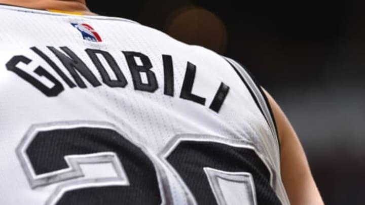 San Antonio Spurs, SAN ANTONIO, TX – MAY 22: The jersey of Manu Ginobili