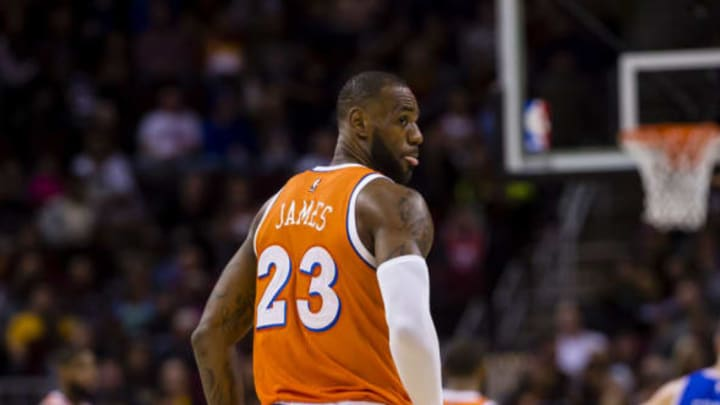 San Antonio Spurs, CLEVELAND, OH – MARCH 31: LeBron James #23 of the Cleveland Cavaliers pauses on the court during the first half against the Philadelphia 76ers at Quicken Loans Arena on March 31, 2017 in Cleveland, Ohio. NOTE TO USER: User expressly acknowledges and agrees that, by downloading and/or using this photograph, user is consenting to the terms and conditions of the Getty Images License Agreement. (Photo by Jason Miller/Getty Images)