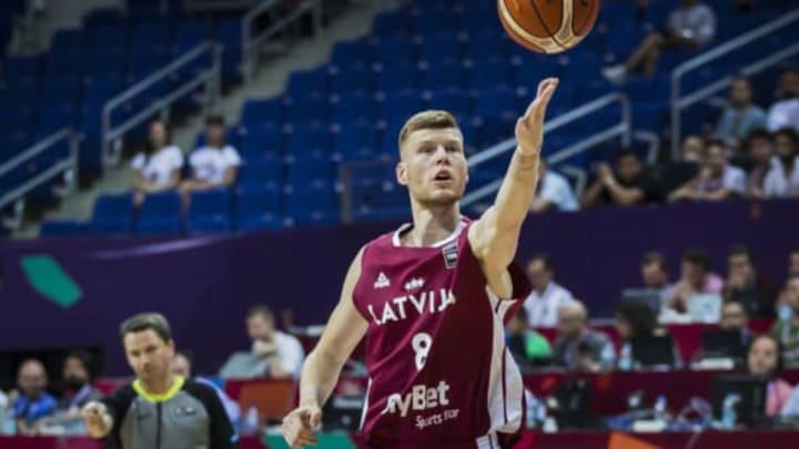 San Antonio Spurs, 1st September 2017, Fenerbahce Arena, Istanbul, Turkey; FIBA Eurobasket Group D; Serbia versus Latvia; Power Forward Davis Bertans
