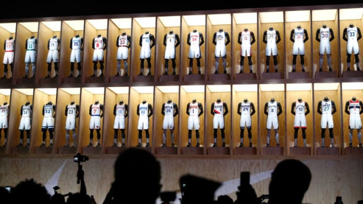 LOS ANGELES, CA - SEPTEMBER 15: A general view during the unveiling of the New NBA Partnership with Nike on September 15, 2017 in Los Angeles, California. (Photo by Josh Lefkowitz/Getty Images)