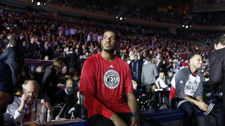 NEW YORK, NY - FEBRUARY 15: LaMarcus Aldridge #12 of the Western Conference All-Stars during the game against the Eastern Conference All-Star in the 2015 NBA All-Star Game on February 15, 2015 at Madison Square Garden in New York City. NOTE TO USER: User expressly acknowledges and agrees that, by downloading and/or using this Photograph, user is consenting to the terms and conditions of the Getty Images License Agreement. Mandatory Copyright Notice: Copyright 2015 NBAE (Photo by Tyler Kaufman/NBAE via Getty Images)