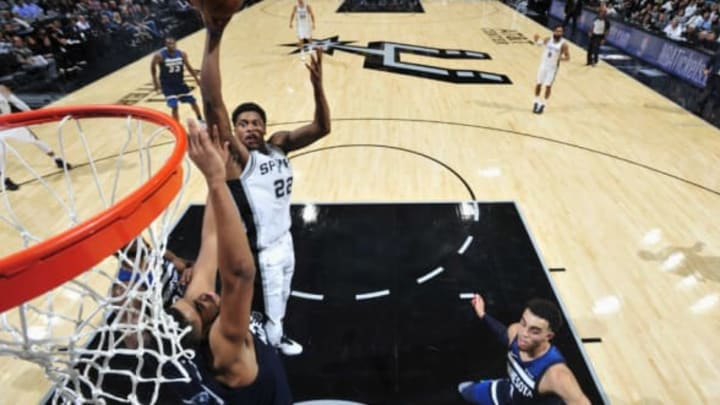 SAN ANTONIO, TX – OCTOBER 18: Rudy Gay #22 of the San Antonio Spurs goes to the basket against the Minnesota Timberwolves on October 18, 2017 at the AT&T Center in San Antonio, Texas. NOTE TO USER: User expressly acknowledges and agrees that, by downloading and or using this photograph, user is consenting to the terms and conditions of the Getty Images License Agreement. Mandatory Copyright Notice: Copyright 2017 NBAE (Photos by Mark Sobhani/NBAE via Getty Images)