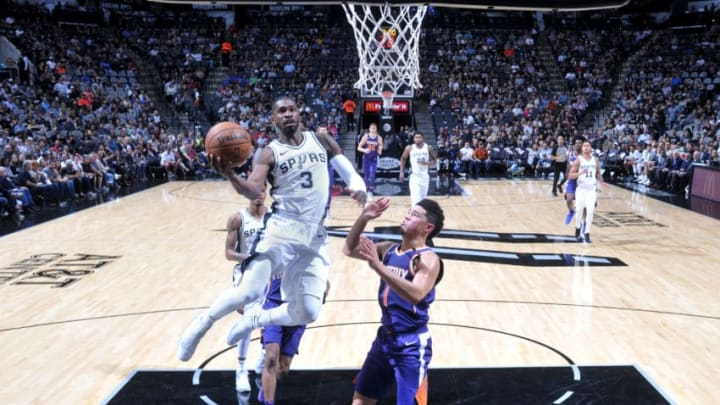 SAN ANTONIO, TX - NOVEMBER 5: Brandon Paul #3 of the San Antonio Spurs shoots the ball during the game against the Phoenix Suns on November 5, 2017 at the AT&T Center in San Antonio, Texas. NOTE TO USER: User expressly acknowledges and agrees that, by downloading and or using this photograph, user is consenting to the terms and conditions of the Getty Images License Agreement. Mandatory Copyright Notice: Copyright 2017 NBAE (Photos by Mark Sobhani/NBAE via Getty Images)