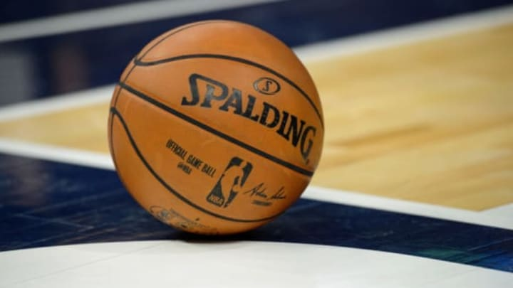 MINNEAPOLIS, MN – NOVEMBER 15: The ball is seen during the game between the Minnesota Timberwolves and the San Antonio Spurs on November 15, 2017 at the Target Center in Minneapolis, Minnesota. NOTE TO USER: User expressly acknowledges and agrees that, by downloading and or using this Photograph, user is consenting to the terms and conditions of the Getty Images License Agreement. (Photo by Hannah Foslien/Getty Images)