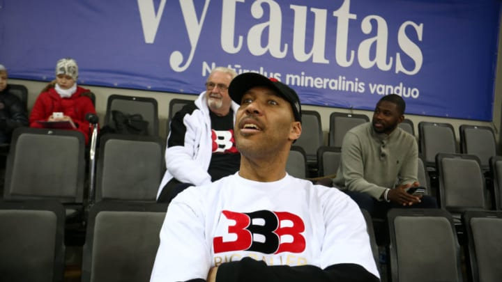 PRIENAI, LITHUANIA - JANUARY 05: LaVar Ball, father of LaMelo and LiAngelo Ball looks on during their first training session with Lithuania Basketball team Vytautas Prienai on January 5, 2018 in Prienai, Lithuania. (Photo by Alius Koroliovas/Getty Images)
