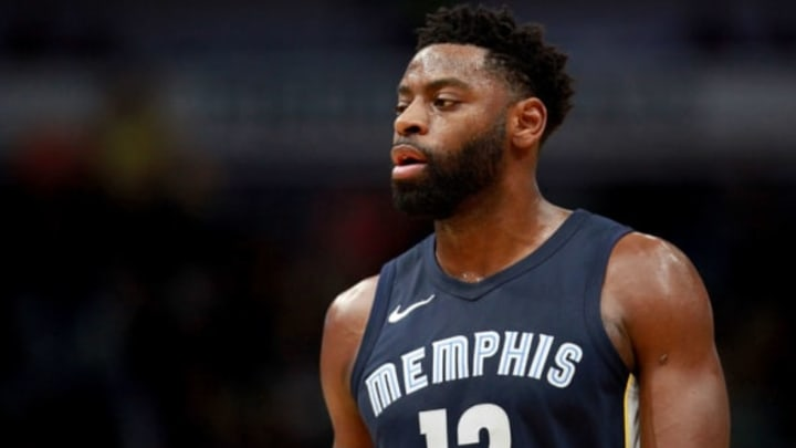 NEW ORLEANS, LA – JANUARY 20: Tyreke Evans #12 of the Memphis Grizzlies stands on the court during the first half of a NBA game against the New Orleans Pelicans at the Smoothie King Center on January 20, 2018 in New Orleans, Louisiana. NOTE TO USER: User expressly acknowledges and agrees that, by downloading and or using this photograph, User is consenting to the terms and conditions of the Getty Images License Agreement. (Photo by Sean Gardner/Getty Images)