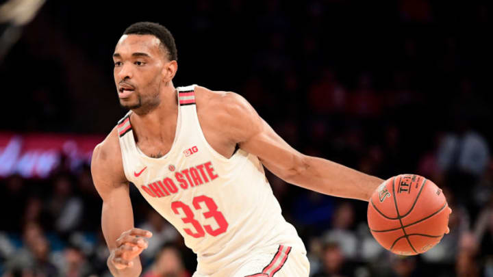 NEW YORK, NY - MARCH 02: Keita Bates-Diop #33 of the Ohio State Buckeyes handles the ball on offense against the Penn State Nittany Lions during the quarterfinals of the Big Ten Basketball Tournament at Madison Square Garden on March 2, 2018 in New York City. The Penn State Nittany Lions defeated the Ohio State Buckeyes 69-68. (Photo by Steven Ryan/Getty Images)