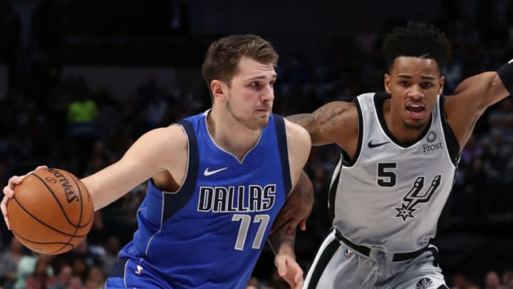 Luka Doncic Dejounte Murray (Photo by Ronald Martinez/Getty Images)