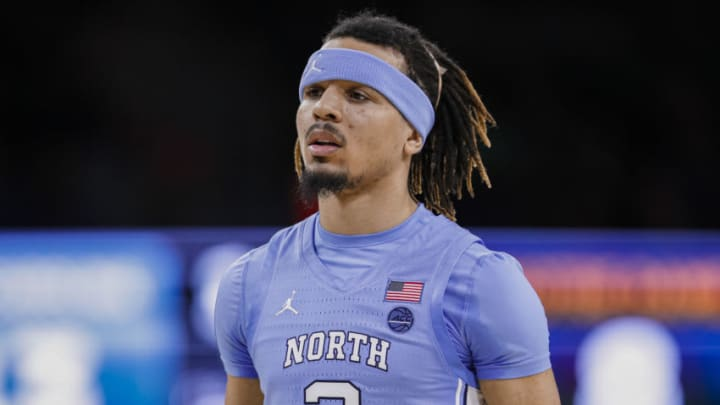 SOUTH BEND, IN - FEBRUARY 17: Cole Anthony #2 of the North Carolina Tar Heels is seen during the game against the Notre Dame Fighting Irish at Purcell Pavilion on February 17, 2020 in South Bend, Indiana. (Photo by Michael Hickey/Getty Images)