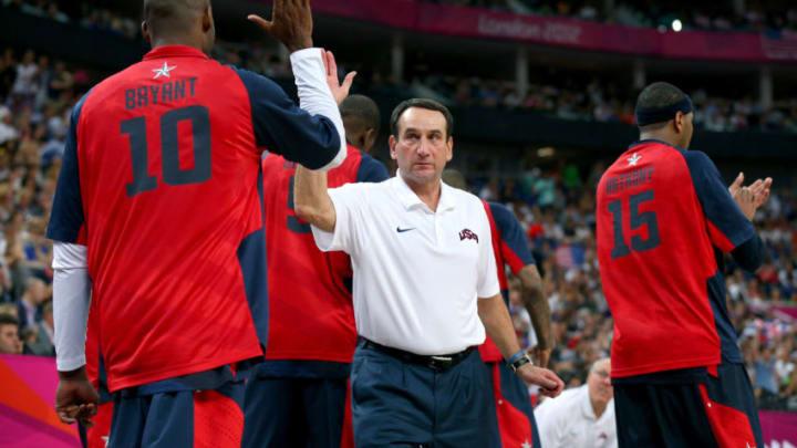 Mike Krzyzewski Kobe Bryant (Photo by Cameron Spencer/Getty Images)