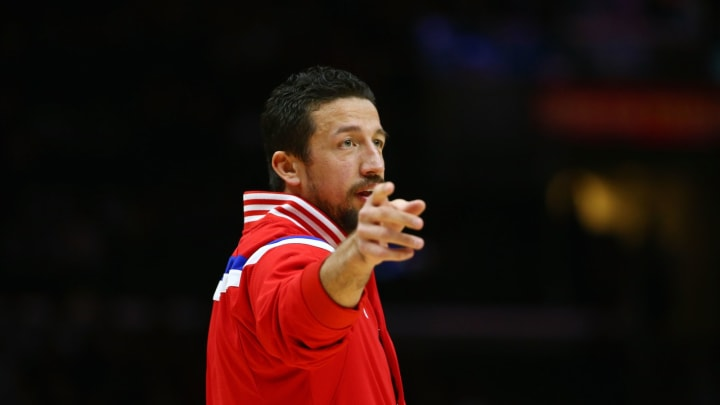 LOS ANGELES, CA – JANUARY 05: Former San Antonio Spurs forward Hedo Turkoglu #15 of the Los Angeles Clippers looks on during warm-up prior to the NBA game at Staples Center in 2015. (Photo by Victor Decolongon/Getty Images)