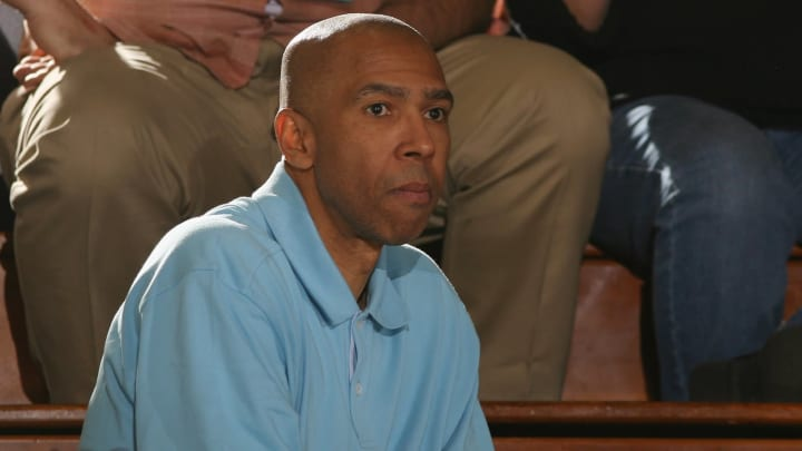 MALIBU, CA – JANUARY 9: Former San Antonio Spurs player Mychal Thompson watches as the Pepperdine Waves plays against the Loyola Marymount Lions on January 9, 2010, at Firestone Fieldhouse. (Photo by Jeff Golden/Getty Images)