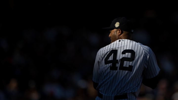 NEW YORK, NY – SEPTEMBER 22: Mariano Rivera #42 of the New York Yankees pitches during the game against the San Francisco Giants on Sunday, September 22, 2013 at Yankee Stadium in the Bronx borough of New York City. (Photo by Tim Clayton/MLB Photos via Getty Images)