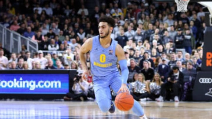 PROVIDENCE, RI – FEBRUARY 23: NBA Draft prospect Markus Howard (0) in action during a college basketball game between Marquette Golden Eagles and Providence Friars on February 23, 2019, at the Dunkin Donuts Center in Providence, RI. (Photo by M. Anthony Nesmith/Icon Sportswire via Getty Images)
