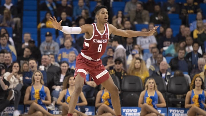 LOS ANGELES, CA – JANUARY 03: Stanford Cardinal forward KZ Okpala #0 during the game against UCLA Bruins Thursday, Jan. 3, 2019 at the Pauley Pavilion in Los Angeles, California. (Photo by Kyusung Gong/Icon Sportswire via Getty Images)