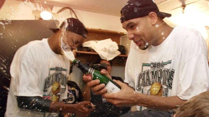San Antonio Spurs (Photo credit should read MATT CAMPBELL/AFP via Getty Images)