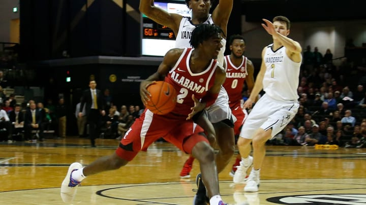 NASHVILLE, TN – FEBRUARY 09: Kira Lewis Jr. #2 of the Alabama Crimson Tide plays against the Vanderbilt Commodores Memorial Gym on February 9, 2019 in Nashville, Tennessee. (Photo by Frederick Breedon/Getty Images)