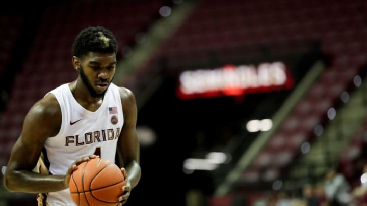 Florida State Seminoles forward Patrick Williams (4) shoots a free throw during an exhibition game between FSU and Barry University at the Donald L. Tucker Civic Center Tuesday, Oct. 22, 2019. Fsu Vs Barry Exhibition Basketball Game 102219 Ts 1022