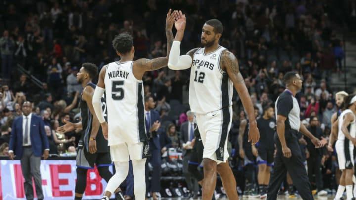 San Antonio Spurs Dejounte Murray LaMarcus Aldridge (Troy Taormina-USA TODAY Sports)