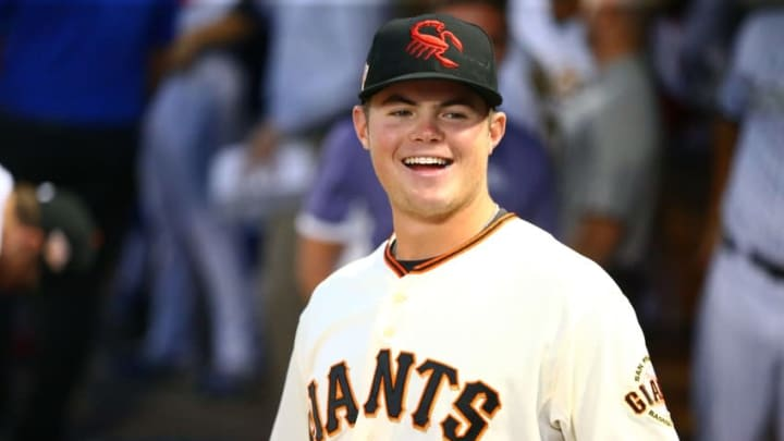 Double-A shortstop Christian Arroyo is the Giants' top-rated prospect, but he might not be high on the Yankees' wish list. (Mark J. Rebilas-USA TODAY Sports)