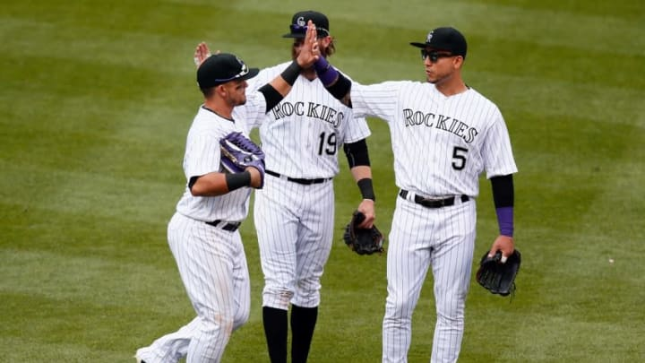 One or all of Colorado's staring outfielders could be traded in the next couple weeks. (Isaiah J. Downing-USA TODAY Sports)