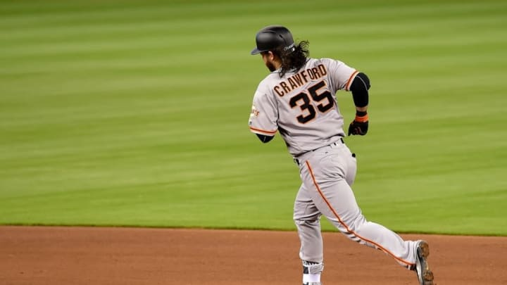It's safe to say Brandon Crawford was the Giants' MVP during the Miami Marlins series. (Steve Mitchell-USA TODAY Sports)
