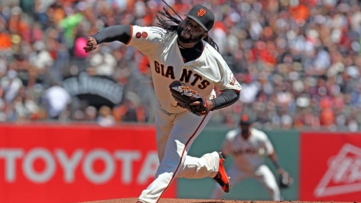 Johnny Cueto pitched well enough Sunday to win. But his bullpen didn't pitched well enough to secure the victory. (Lance Iversen-USA TODAY Sports)