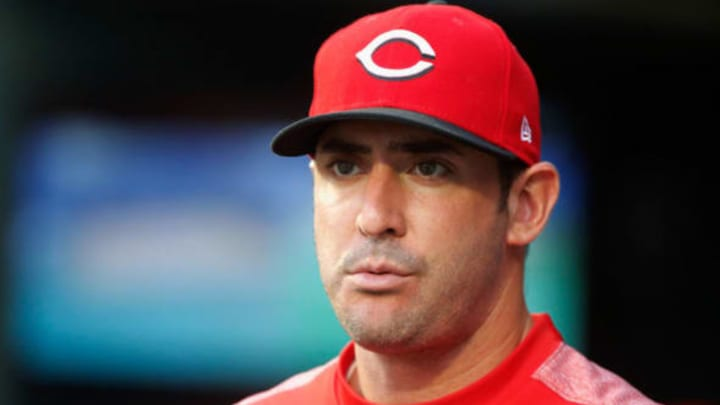 NEW YORK, NY – AUGUST 06: Matt Harvey #32 of the Cincinnati Reds looks on from the dugout during the first inning against the New York Mets at Citi Field on August 6, 2018 in the Flushing neighborhood of the Queens borough of New York City. (Photo by Jim McIsaac/Getty Images)
