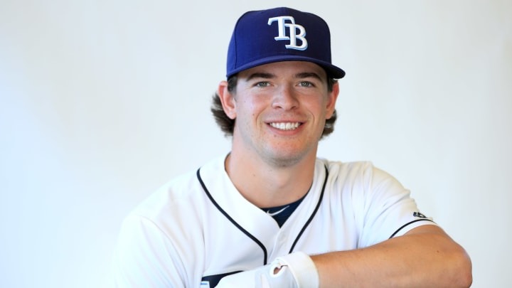 PORT CHARLOTTE, FLORIDA – FEBRUARY 17: Nick Solak #85 of the Tampa Bay Rays poses for a portrait during photo day on February 17, 2019 in Port Charlotte, Florida. (Photo by Mike Ehrmann/Getty Images)