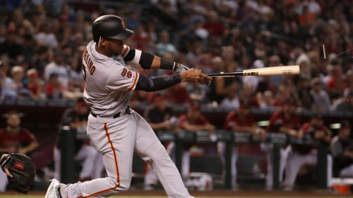 Abiatal Avelino of the SF Giants was released by the organization today. He was the the last piece in the organization tied to the Andrew McCutchen trade. (Photo by Christian Petersen/Getty Images)