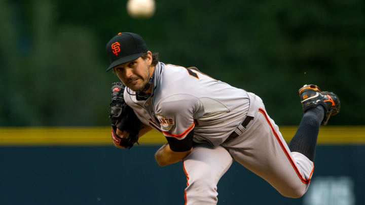 DENVER, CO – AUGUST 26: Barry Zito #75 of the San Francisco Giants delivers a pitch against the Colorado Rockies in the first inning of a game against the Colorado Rockies at Coors Field on August 26, 2013 in Denver, Colorado. (Photo by Dustin Bradford/Getty Images)