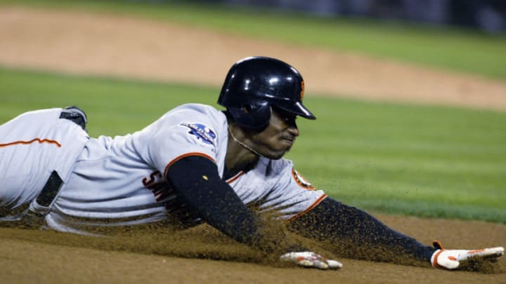 Giants outfielder Kenny Lofton. (Photo by Al Bello/Getty Images)